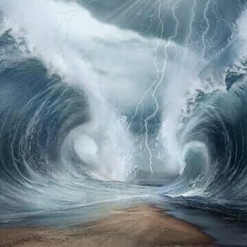 Дивный переход Моисея через Красное (Чермное) море