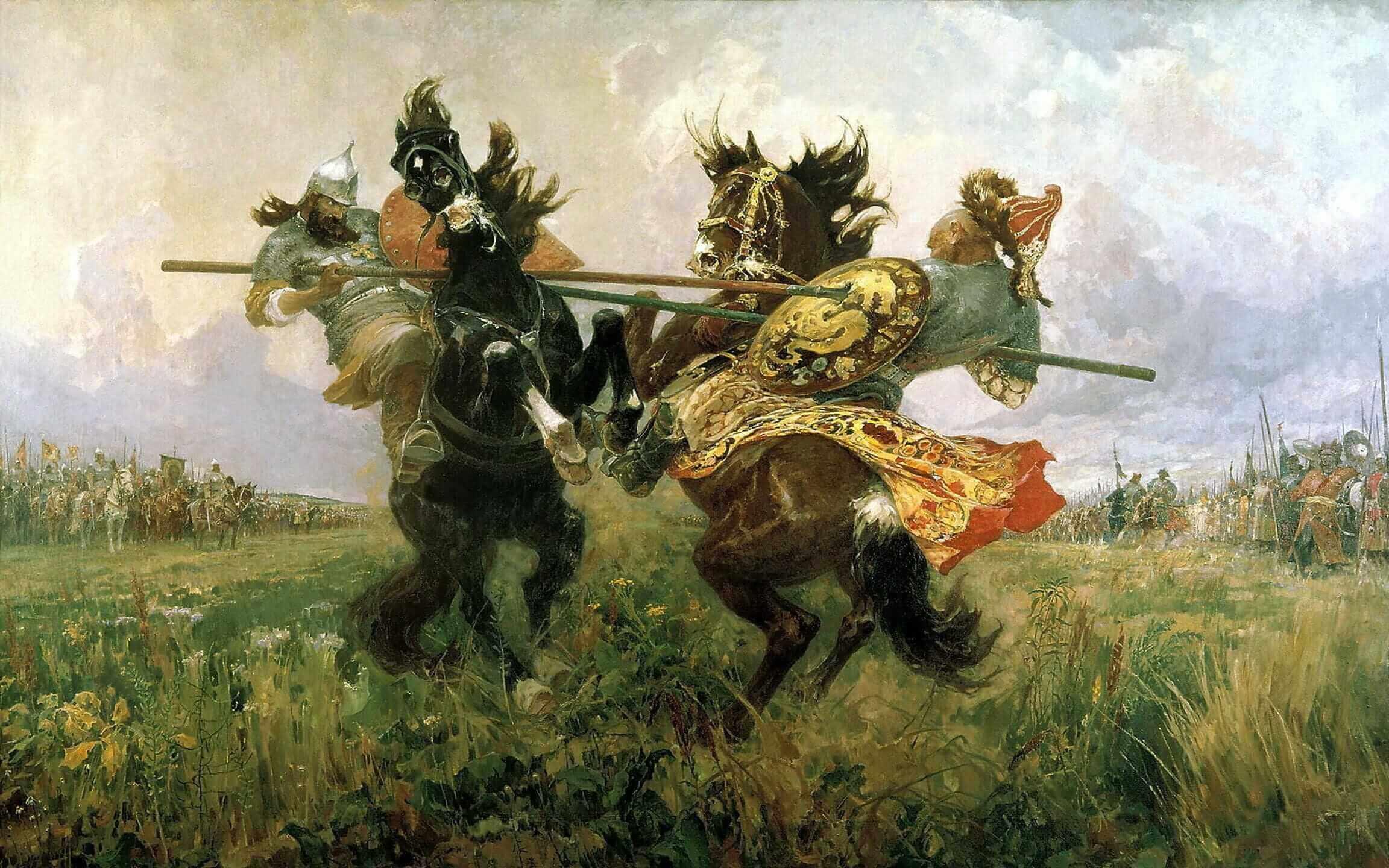 Авилов Михаил Иванович. Поединок на куликовом поле
