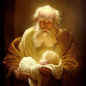Симеон и Иисус. Андрей Шишкин