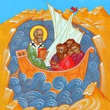 Святитель Николай. Избавь корабль от потопа