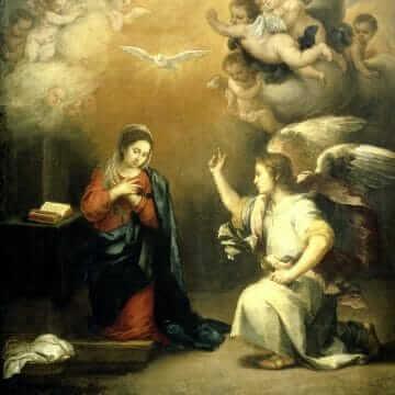 La Anunciación. Bartolomé Esteban Murillo
