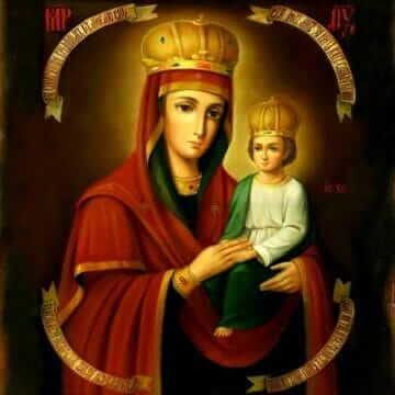 Икона Пресвятой Богородицы Споручница грешных