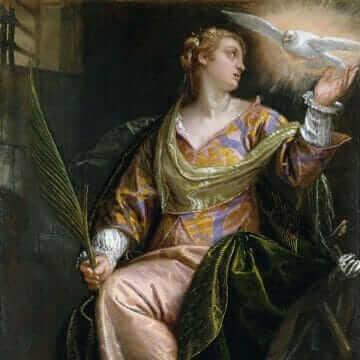 Святая Екатерина Александрийская в темнице. Паоло Веронезе