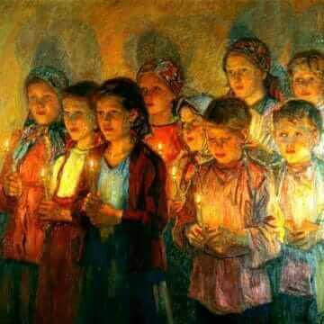 В церкви. Николай Богданов-Бельский