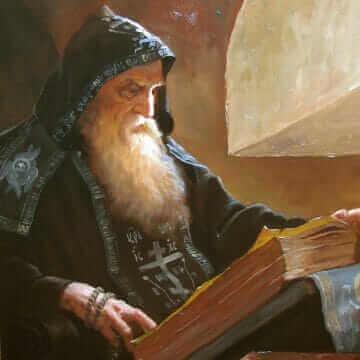 Схимник в келье. Андрей Алексеевич Шишкин