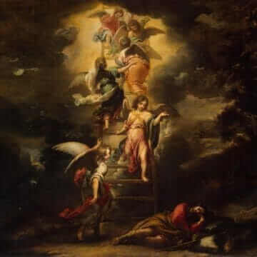 Пейзаж со сном Иакова. Лестница ангелов. Михаэль Вильманн
