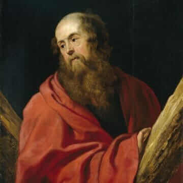 Saint Andrew. Peter Paul Rubens
