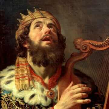 King David Playing the Harp. Gerard van Honthorst